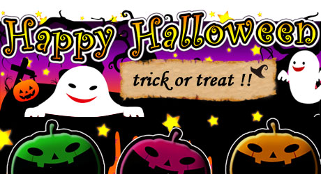 Happy Halloween trick or treat !!