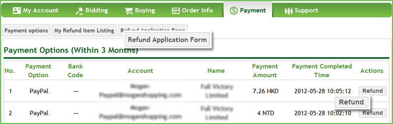 apply for Refund